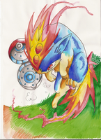 quilava pokeball by Ashuras2000