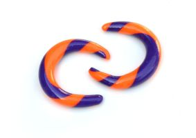 Polymer Gauges in Purple and Orange 001 by Dabstar