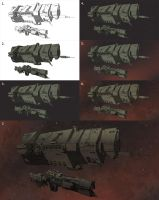 UNSC Ships Colour Test Step by Step by Obhan