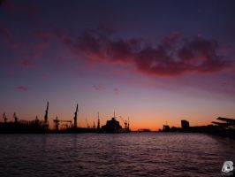 Sunset Hamburg by IndianRain