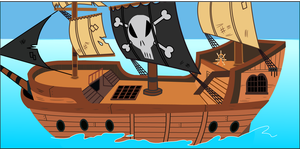 Pirate Ship by Twitchy-Tremor