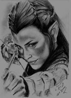 Evangeline Lilly - Tauriel by Mohamed Ziou by MoZiou