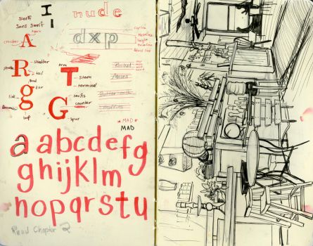Typography notes - sketchbook by RachelMaves