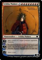 Uchiha Madara magic card by Ryaxx