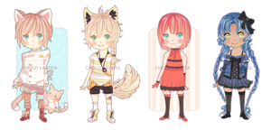 [Commission] Chibi Collab Batch by Akeita