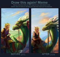 Amateur draw this again meme by Neboveria
