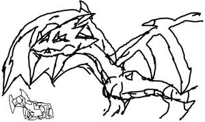 First dragon on tablet by megan-the-Speeddemon