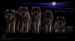 The Kohzah Pack - Dire Wolves by lenzamoon