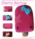 Cherry Berry the Lolly Plushie by fuzzy-jellybeans