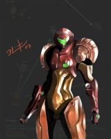 Samus speedpaint by LEADZ