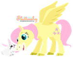 Fluttershy and Angel - Happy Pets by RavenEvert