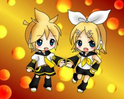 Rin and Len by GeminiSyndrome