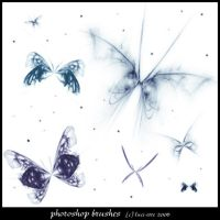 Fractal Butterflies Brushes 2 by luci-ette