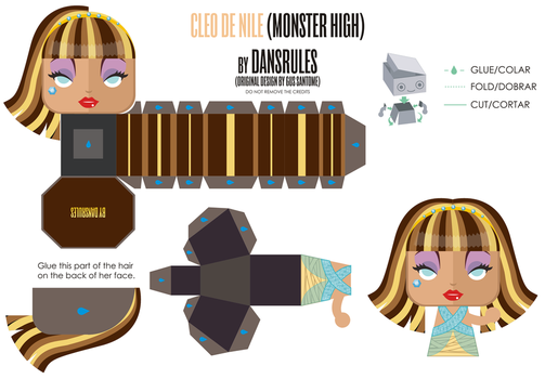Cleo De Nile (Monster High) Mini PaperToy by Dansr by dansrules