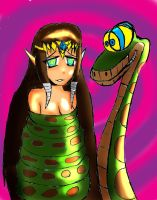 Kaa and Zelda colored by MegaGundamMan