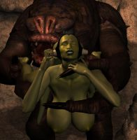 Oola and the Rancor 3 by Chup-at-Cabra
