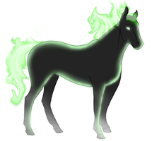 Spectral Horse 2 by Planet-Spatulon