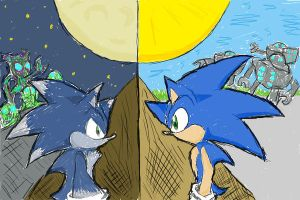 Sonic: Day and Night by SnazzyChipz