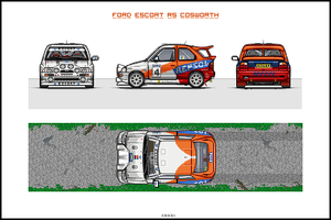Ford Escort RS Cosworth by EC-designs