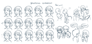 Studying Expressions 01 by Nsio