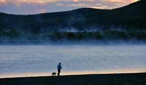Old man and his dog. by laogephoto