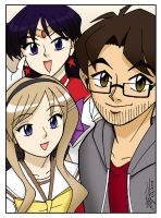 Mikey, Rei and Katie Selfie by ArthurT2015