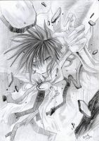 Seiten Taisen in pencil by SunAndClouds