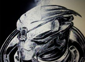 Garrus V. sketch art by MoonlitScriber
