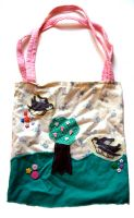 Sparrow Meadow Tote Bag by deconstructedstars
