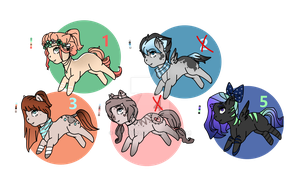 Pony adopts [3/5 OPEN] by Meep1023
