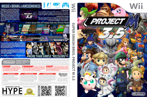 Project M 3.5 Custom Wii Game Cover by LipeSan
