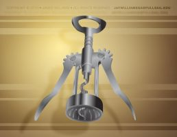 Photo-Real Vector Corkscrew by TheJayWilliams
