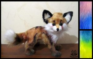 Hand made: Poseable fantasy fox (FOR SALE) by MalinaToys