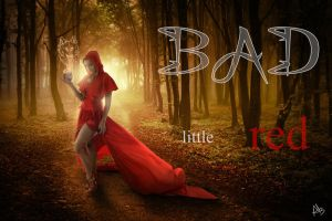 Bad little red wallpaper by Creamydigital
