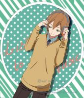 Listening to music by Risa1