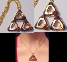 Glittering Triforce by wickedorin