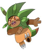Hariboogu possible Chespin evolution by Phatmon66