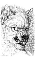 Pen Sketchbook - Wolf Man by synnabar