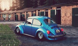 Stanced Volkswagen Beetle by Sk1zzo