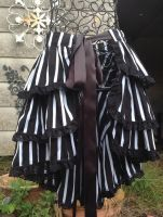 Burlesque bustle ruffle stripe circus burton by SewObession