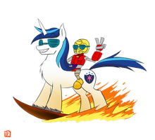 Surfing in the Lava by lordvader914