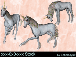 Unicorns pack of 3 by xxx-0x0-xxx