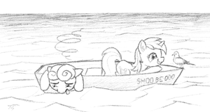 Lyra At Sea (and Bon Bon) by TopGull