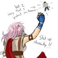 Lightning wears the pants xD by Aurumis