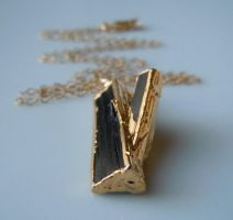 Black Tourmaline Necklace by 443Jewelry