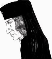 Snape as an Orthodox priest by Atanapotnia