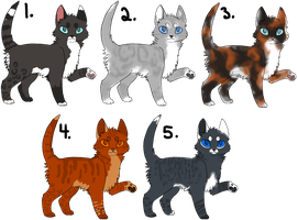 Cat Adoptables ~Sheet 3~ CLOSED by courtneyrc