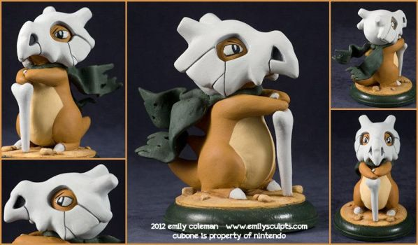 Commission : Cubone, The Desert Nomad by emilySculpts