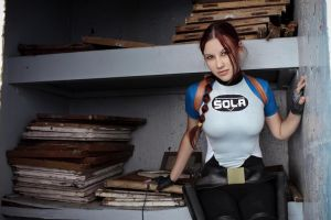 Lara Croft SOLA wetsuit - mysterious smile by TanyaCroft