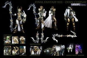 FINAL FANTASY XIII - ODIN COSTUME by AmenoKitarou